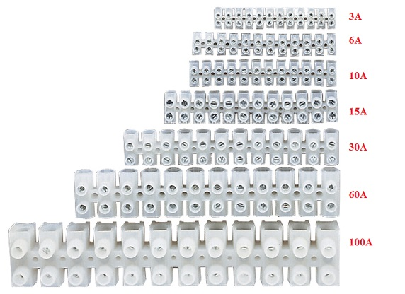Choc Block 6a Strip Connectors 2x12 Screw Terminal 115f