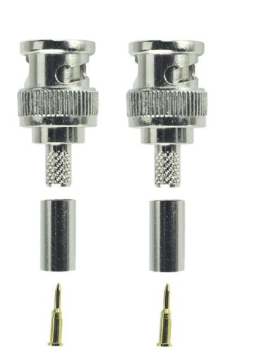 BNC Male Crimp  Connector RG58   Pk of 2
