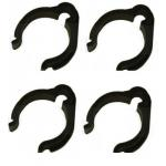 "Pack of 4. BLACK MAST CABLE CLIP FOR 1"" diameter POLES"